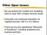 other open issues