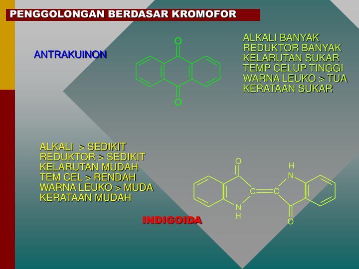 Penggolongan berdasar kromofor
