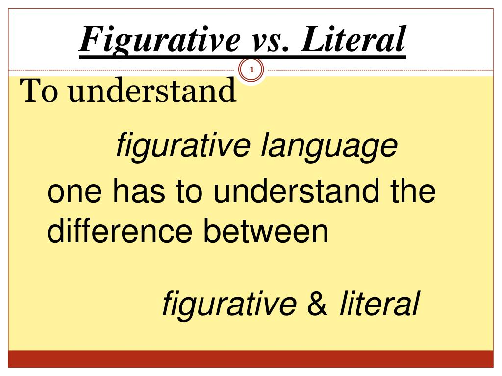 ppt figurative vs literal powerpoint presentation id 6011309