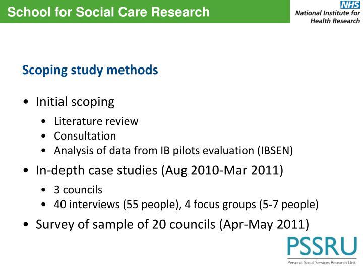 Scoping study methods