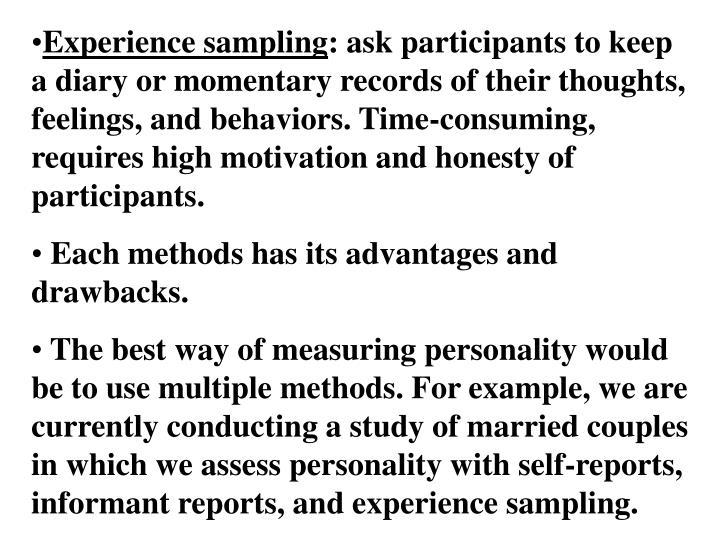 methods of measuring personality