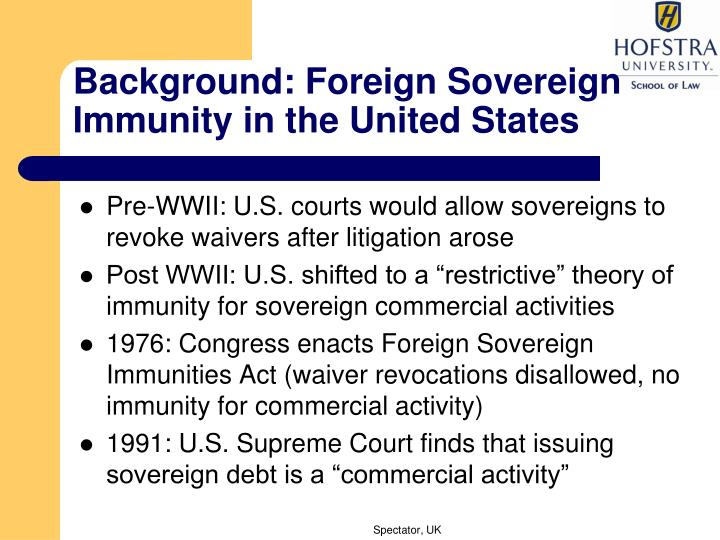 Background: Foreign Sovereign Immunity in the United States