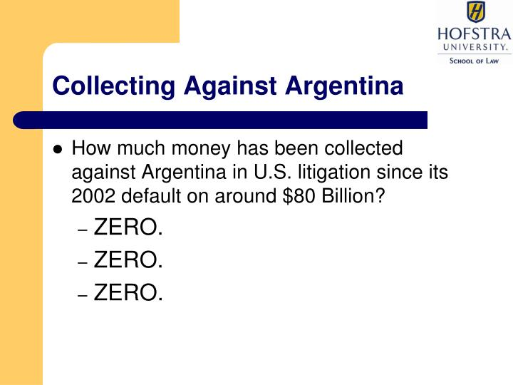 Collecting Against Argentina