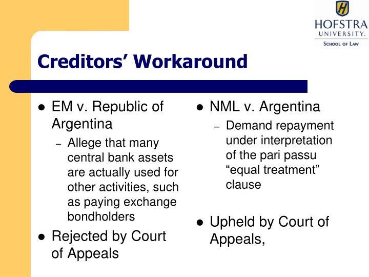 Creditors' Workaround