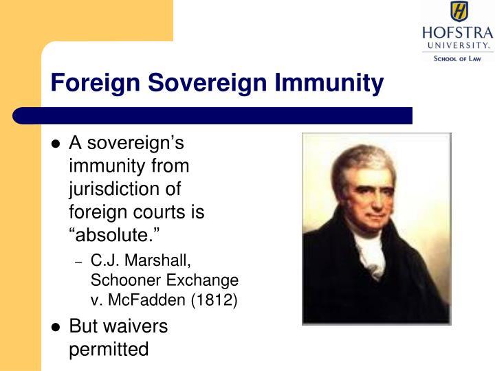Foreign sovereign immunity