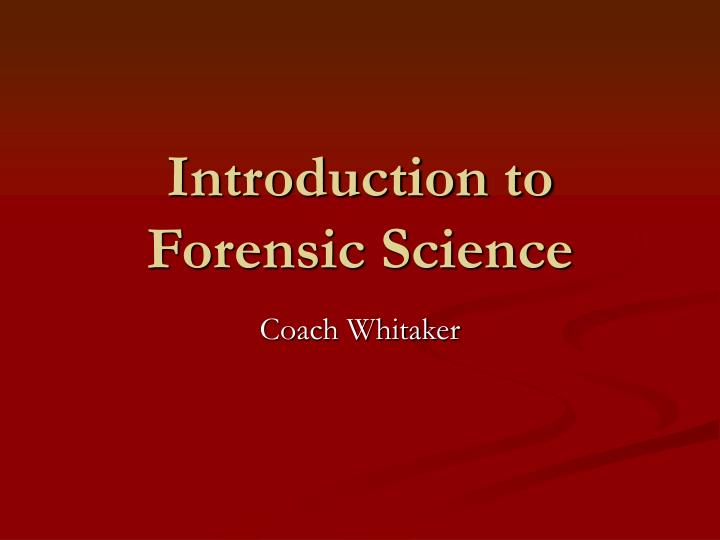 introduction to forensic science Test and improve your knowledge of introduction to forensic science with fun multiple choice exams you can take online with studycom.