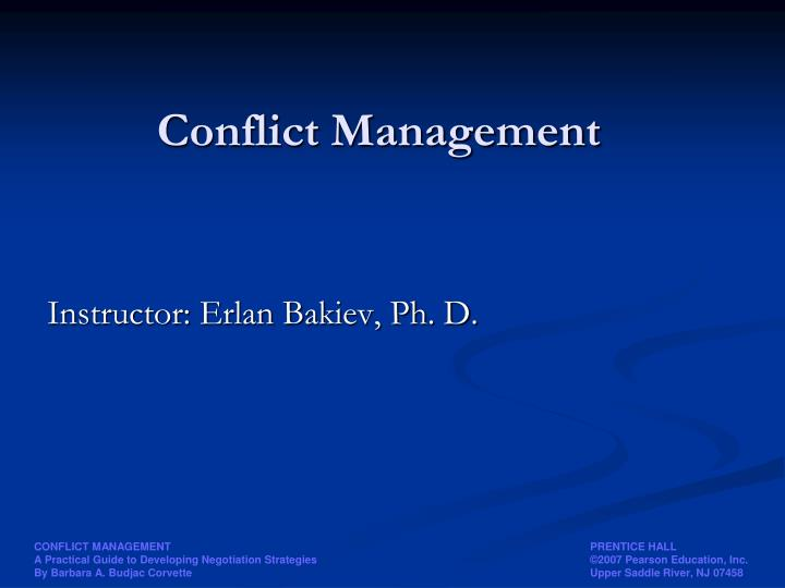 conflict management negotiation final