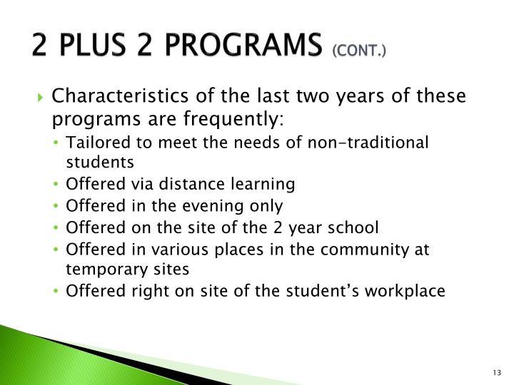 2 PLUS 2 PROGRAMS