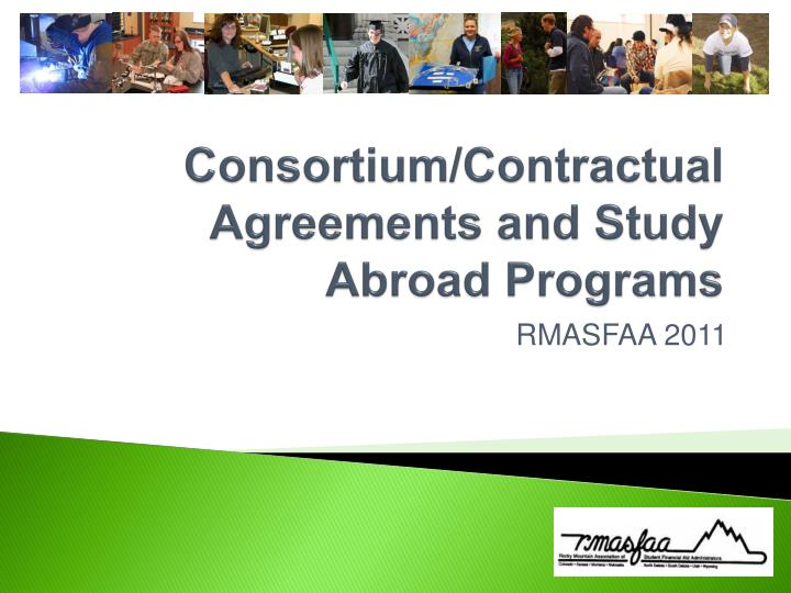 Consortium contractual agreements and study abroad programs