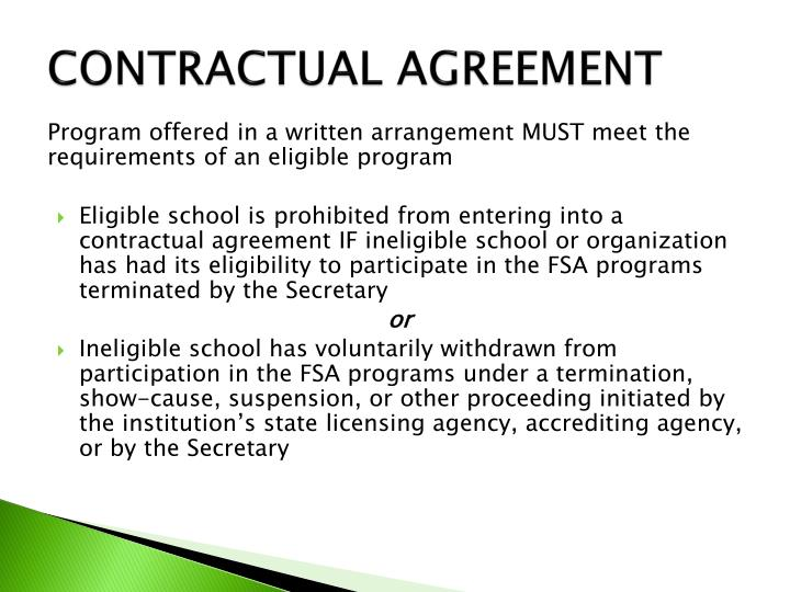 CONTRACTUAL AGREEMENT