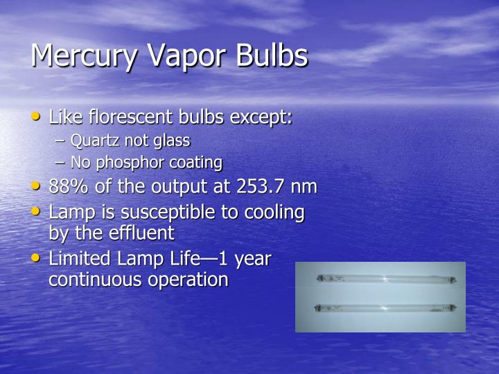 Mercury Vapor Bulbs