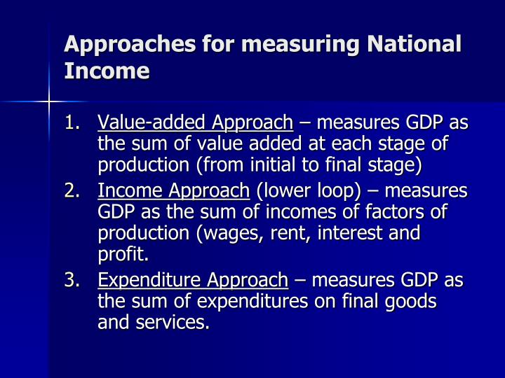 approaches to measure national income