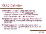 olac definition