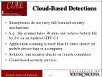 cloud based detections