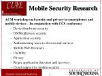 mobile security research