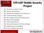 owasp mobile security project