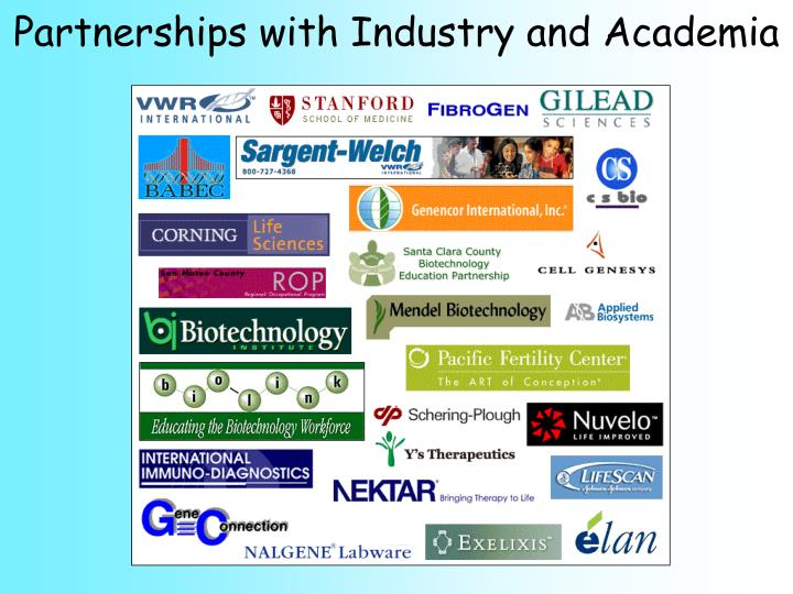 Partnerships with Industry and Academia
