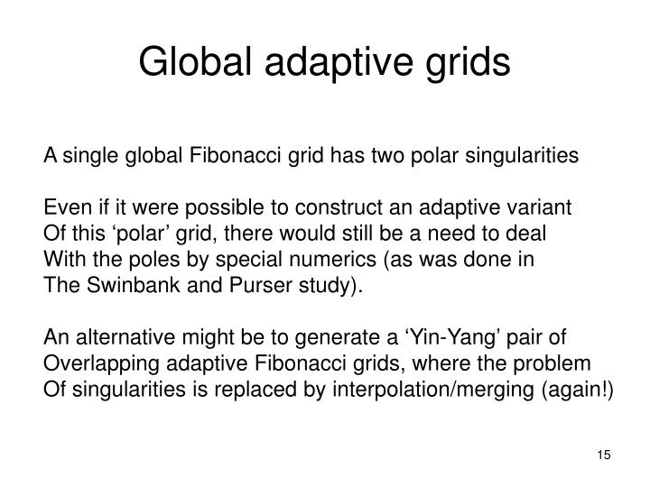 Global adaptive grids