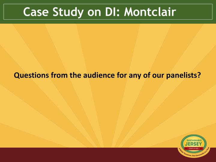 Case Study on DI: Montclair