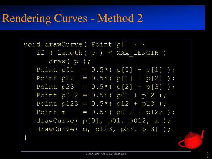 Rendering Curves - Method 2