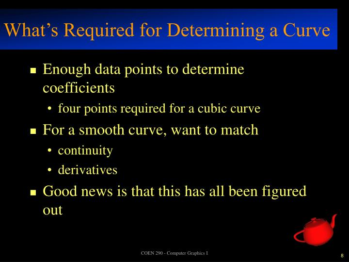 What's Required for Determining a Curve