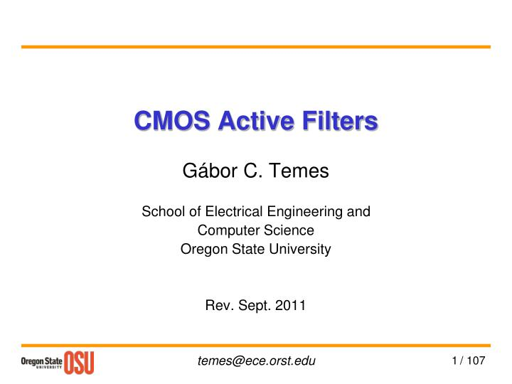 cmos active filters n.