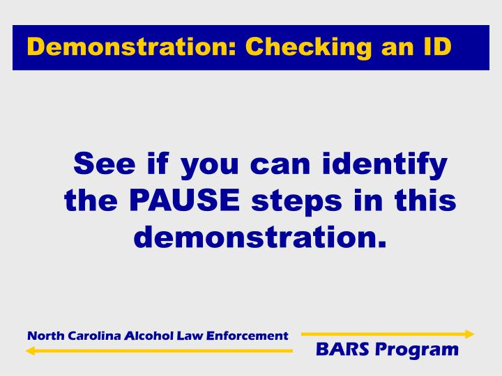 Demonstration: Checking an ID