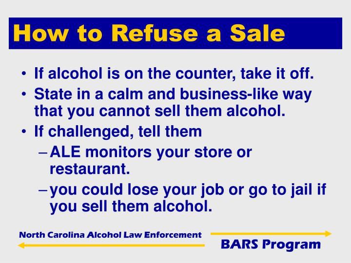 How to Refuse a Sale