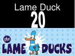 lame duck