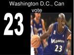 washington d c can vote