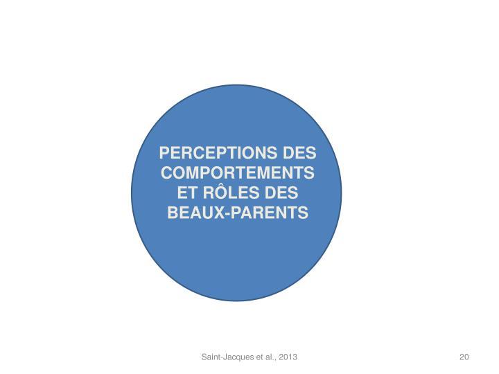 PERCEPTIONS DES COMPORTEMENTS ET RÔLES DES BEAUX-PARENTS