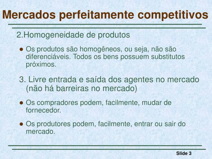 Mercados perfeitamente competitivos1