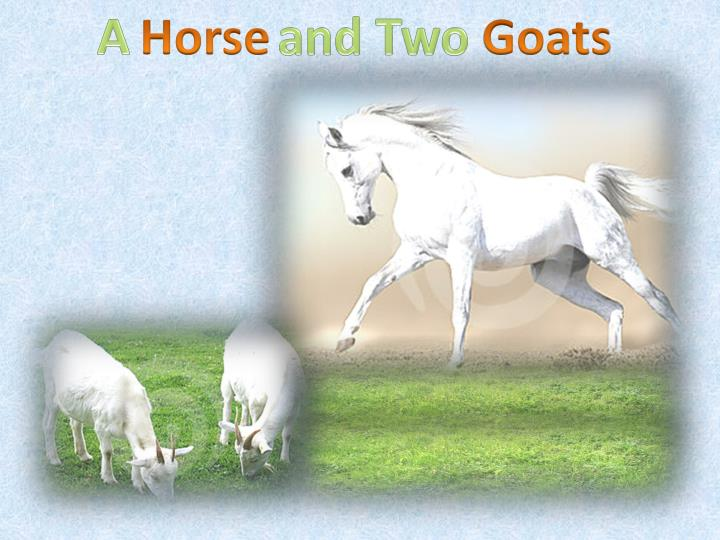 a horse and two goats clash of cultures A horse and two goats has 211 ratings and 10 reviews the cultural clash is dominant we can also see the clash between materialism and spirutualism.