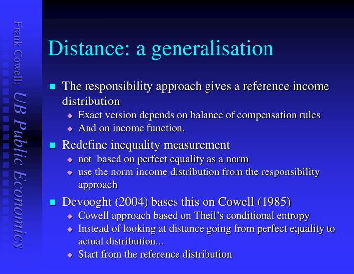 Distance: a generalisation