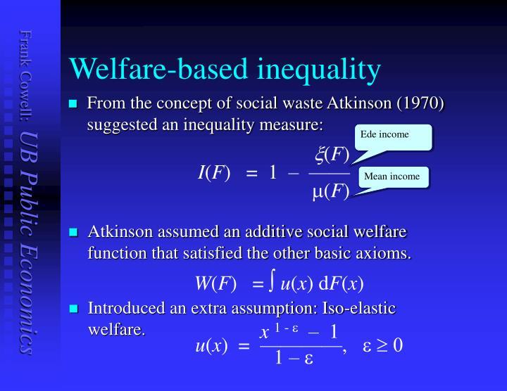 Welfare-based inequality