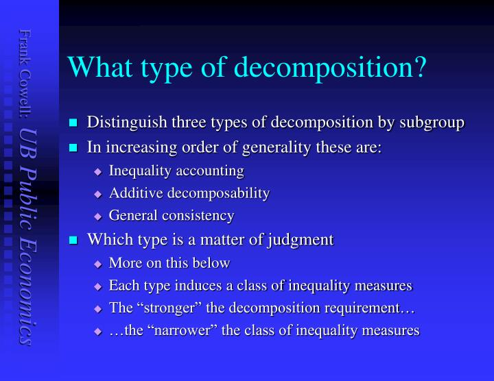 What type of decomposition?
