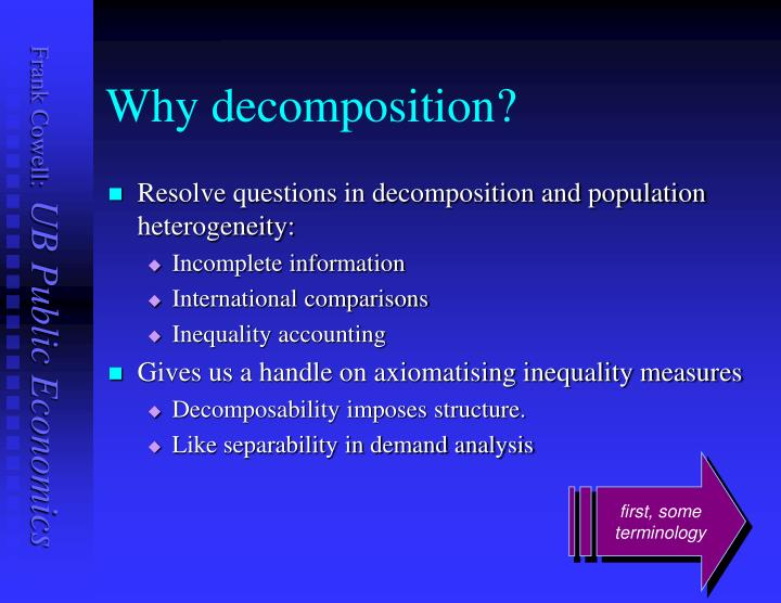 Why decomposition?