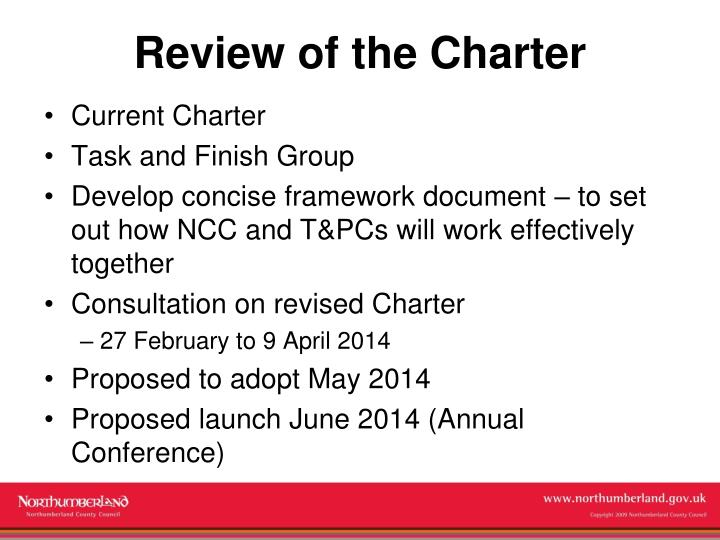 Review of the Charter