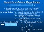 magnetic forces acting on moving charges
