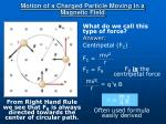 motion of a charged particle moving in a magnetic field