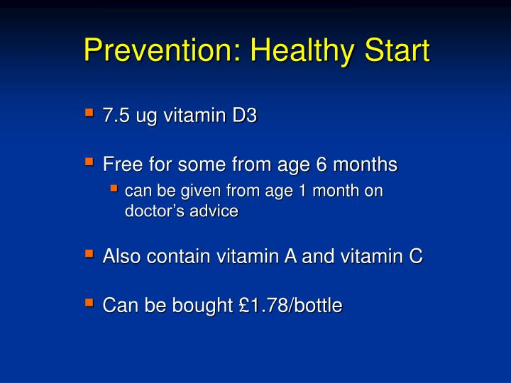Prevention: Healthy Start