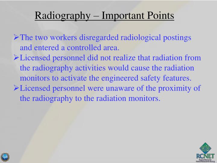Radiography – Important Points