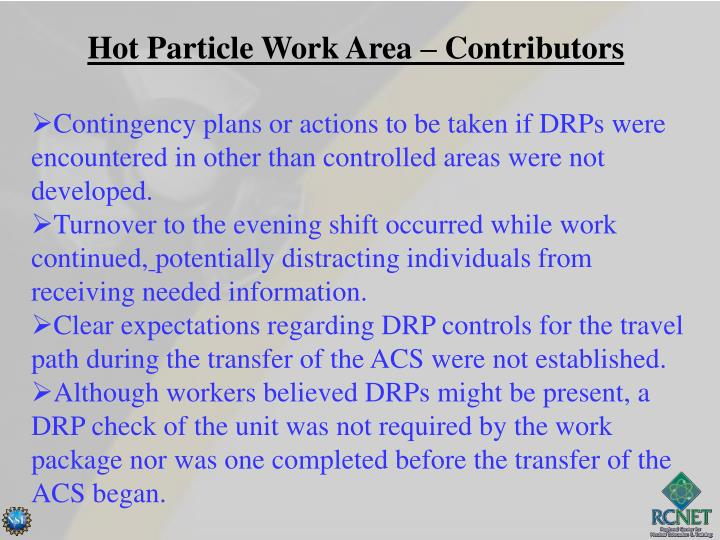 Hot Particle Work Area – Contributors