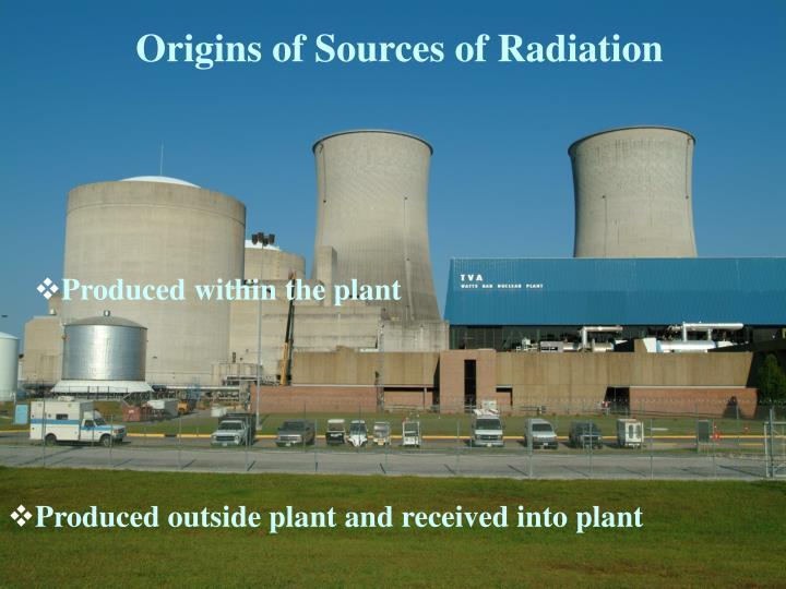 Origins of Sources of Radiation