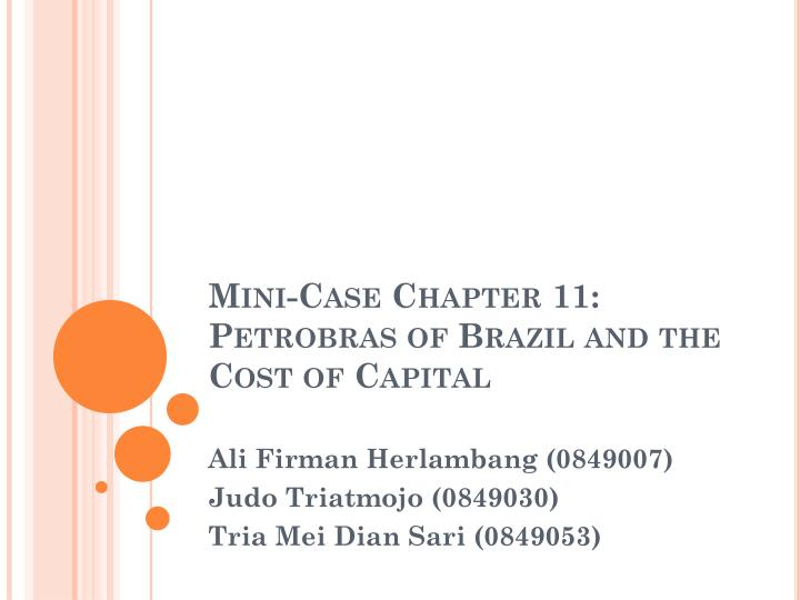 chapter 2 mini case Chapter 2 financial statement and cash flow analysis - download as word doc (doc), pdf file (pdf), text file (txt) or read online  mini case chapter 6 - week 3  chapter 2.
