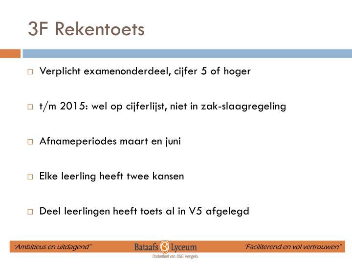3F Rekentoets