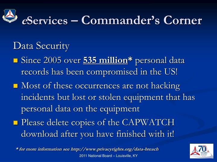E services commander s corner2