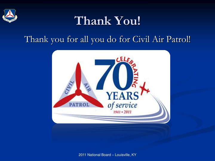Thank you for all you do for Civil Air Patrol!