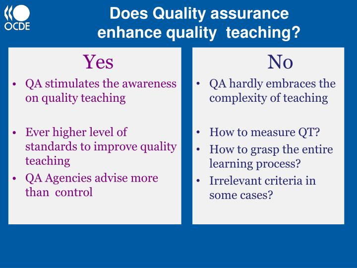 Teaching, Assessment and Quality Assurance in Higher Education