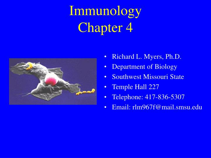 immunology chapter 4 n.